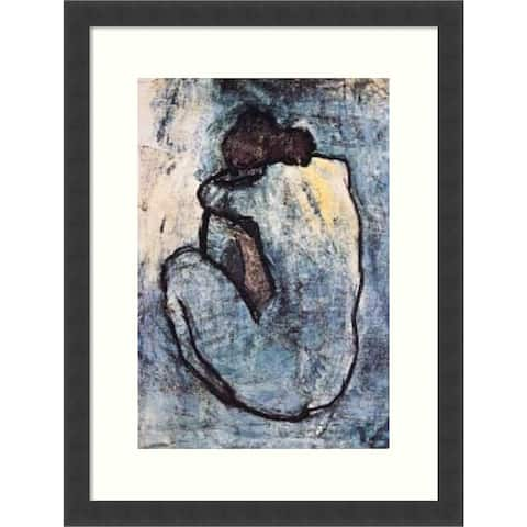 The Blue Nude (Seated Nude) 1902 by Pablo Picasso Framed Wall Art Print