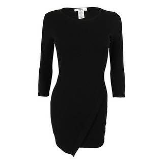 Bar III Women's 3/4 Sleeves Envelope Dress