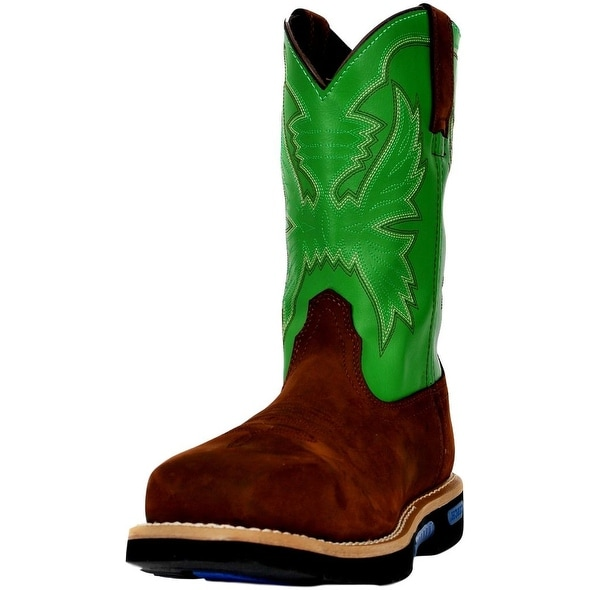Cinch Work Boots Mens WRX CT Safety Toe Brown Green