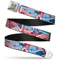 Bob British Invasion Pose Full Color Blues Bob British Invasion Hello Seatbelt Belt