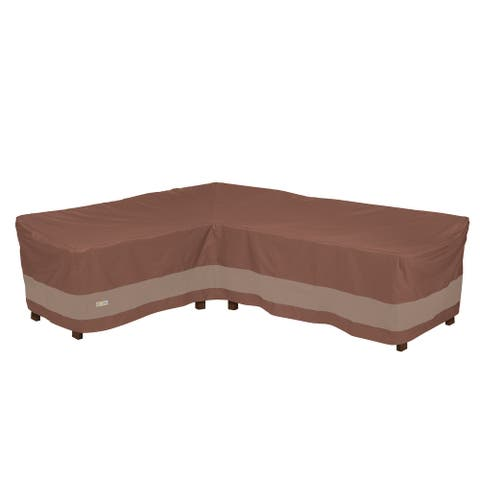 Duck Covers Ultimate Waterproof 104 Inch Patio Left-Facing Sectional Lounge Set Cover