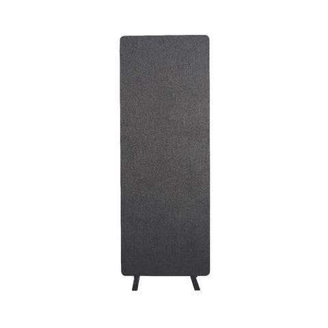 Offex Acoustic Fabric Single Panel Room Divider in Slate Gray