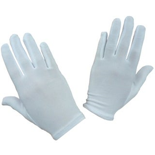 NICE CAPS Girls Stretch White Special Occasion Parade Gloves