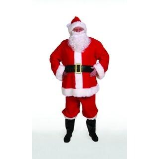 10-Piece Economy Santa Christmas Costume Set- Adult Size XXXL
