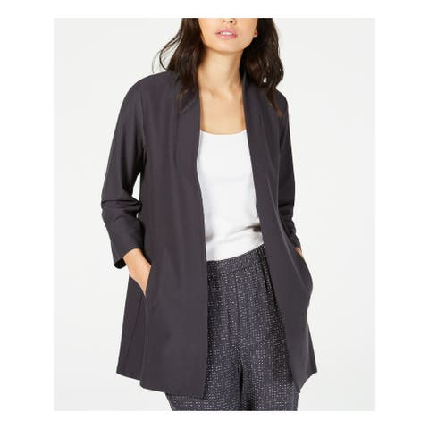 EILEEN FISHER Womens Gray Jacket Size PL