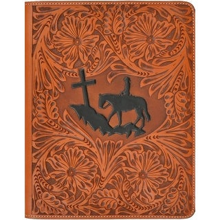 3D Western iPad Case Cover Cowboy Leather 8 x 10 Natural G263