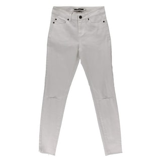 Noisy May Womens Lucy Slim Jeans Denim Destroyed