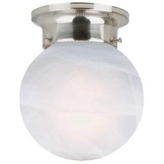 "Design House 511592 6"" Wide Millbridge Traditional / Classic 1 Light Ambient Lighting Flushmount Ceiling Fixture"