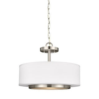 "Sea Gull Lighting 7728002 Nance Convertible 2 Light 16-1/4"" Wide Pendant / Semi- (2 options available)"