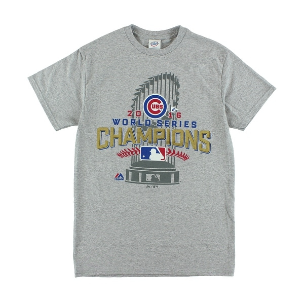 Shop Majestic Mens Chicago Cubs 2016 World Series Graphic T Shirt Heather  Grey - heather grey gold red royal blue - Free Shipping On Orders Over  45  ... aa959626e