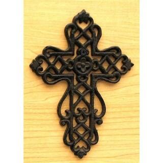 IWGAC 0184J-01051 Small Cast Iron Cross with Scrolls