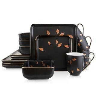 Link to Stone Lain Porcelain Square Dinnerware Set, Golden Leaves Similar Items in Dinnerware