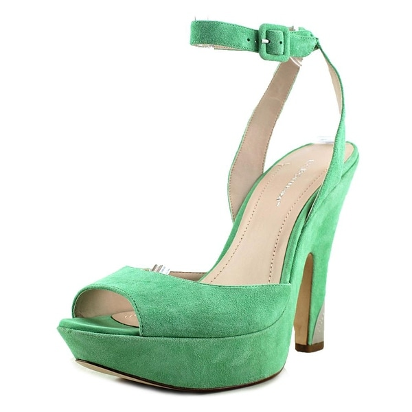 BCBGeneration Nellie Women Open Toe Suede Green Platform Heel