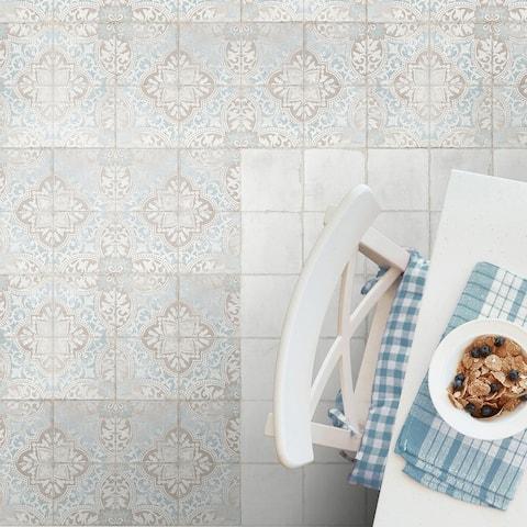 "SomerTile Barcelona Decor Montjuic 6"" x 6"" Porcelain Floor and Wall Tile"