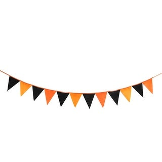 Halloween Home Party Non-woven Fabric Triangle Card Rope Hanging Decor Photo Prop Banner