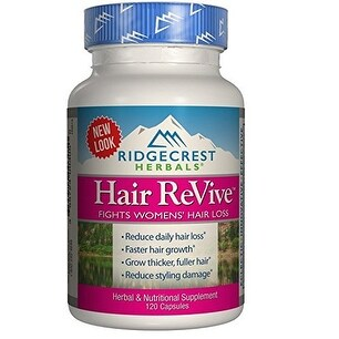 Ridgecrest Herbals Hair ReVive - 120 Capsules - Reduce Daily Hair Loss - Faster Hair Growth - Reduce Styling Damage
