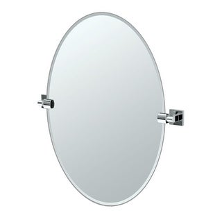 """Gatco 4059 Elevate 24"""" Oval Beveled Wall Mounted Mirror with Chrome Accents - N/A"""