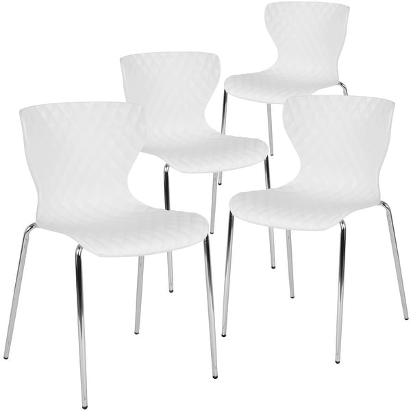 4 Pack Contemporary Design Plastic Stack Chair. Opens flyout.