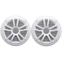 "BOSS AUDIO MR6W 6.5"" Dual-Cone Marine Speakers (White)"