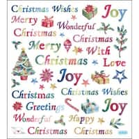 Multicolored Stickers-Christmas Wishes