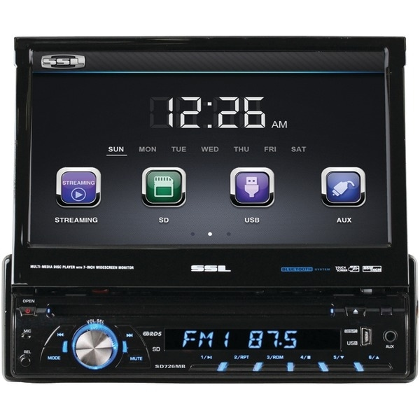 "Soundstorm Sd726Mb 7"" Single-Din In-Dash Dvd Receiver With Motorized Touchscreen Digital Tft Monitor (With Bluetooth(R))"