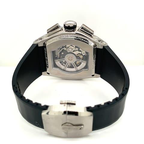 Cvstos Men's 11016CHR50AC 01 'Challenge-R 50' Black Skeleton Dial Black Rubber Strap 2 Day Power Reserve Automatic Watch