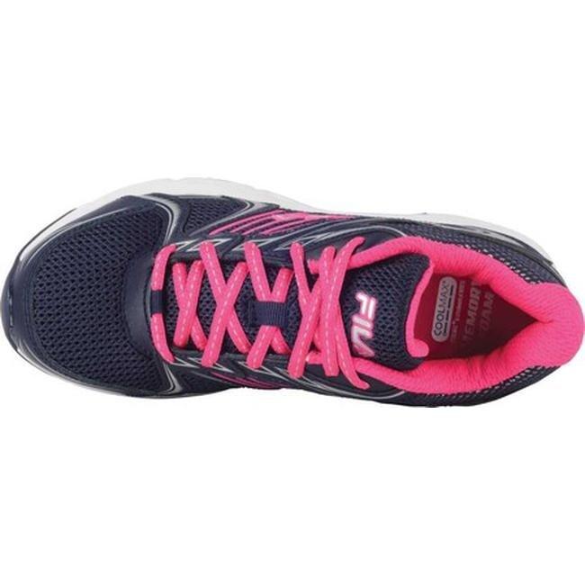 Fila Women's Memory Pacesetter Slip Resistant Jogger Sneaker Fila NavyPink GloWhite