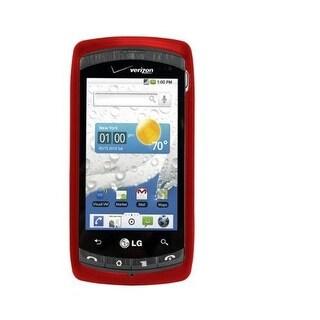 OEM Snap-on Cover Case for LG Ally VS740 - Red (Bulk Packaging)