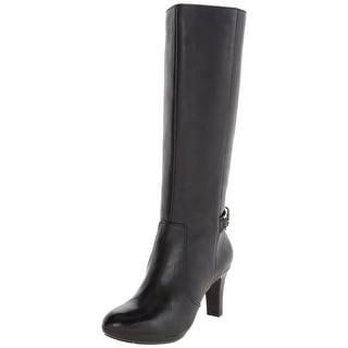 Anne Klein Womens Strahan Leather Almond Toe Knee High Fashion Boots Fashion ...