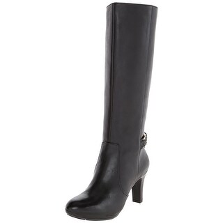 Anne Klein Womens Strahan Leather Almond Toe Knee High Fashion Boots Fashion ...