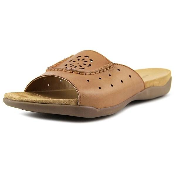 Array Sand Dollar Women Open Toe Leather Slides Sandal