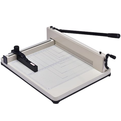 Costway 17 Inch A3 Paper Cutter Guillotine Trimmer Cutting Machine Heavy Duty 400 Sheets - as pic