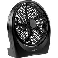 O2COOL Fan 10 inch Battery or Electric Operated Indoor/Outdoor Portable Fan W/ Ac Adapter, Tilts 90 Degrees - Black