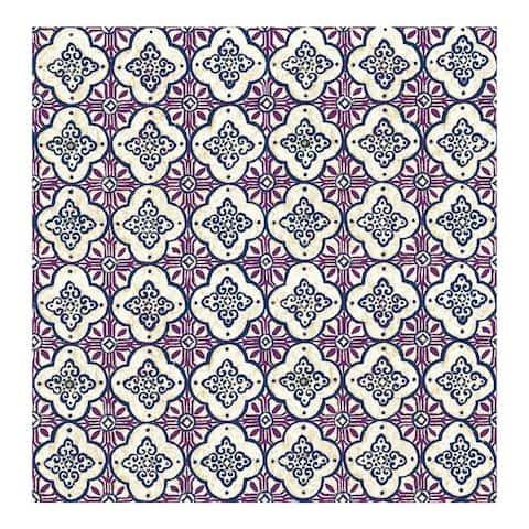 Geo Violet Quatrefoil Wallpaper - 20.5in x 396in x 0.025in