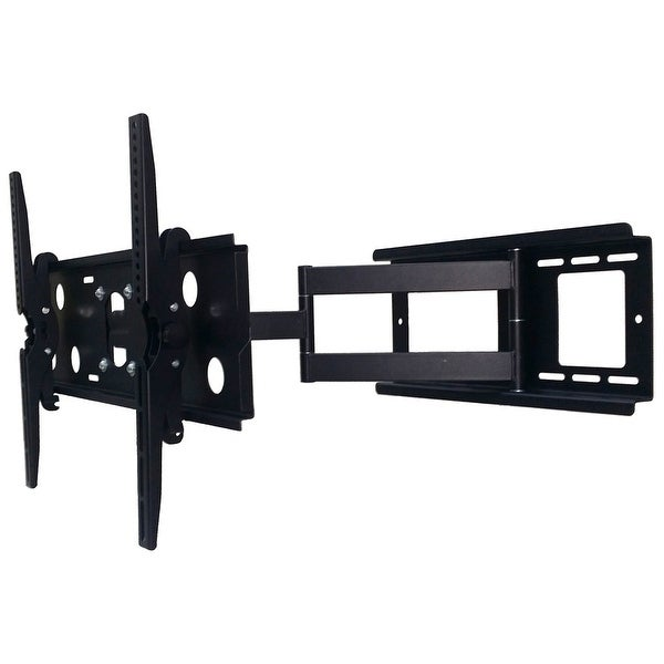 2xhome - TV Wall Mount Bracket Secure Cantilever LED LCD Smart 3D Flat Screen Monitor Large Displays Long Single Arm Adjustable