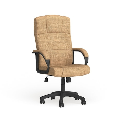 High Back Fabric Executive Swivel Office Chair with Arms