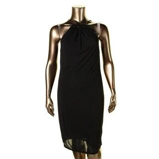 Lauren Ralph Lauren Womens Casual Dress Beaded Ruched