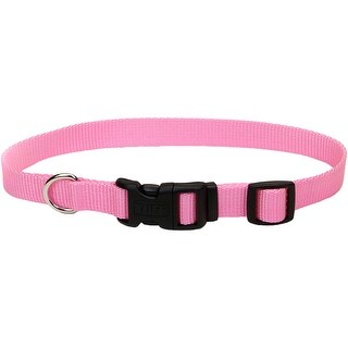 "Adjustable Nylon 3/4"" Dog Collar W/Tuff Buckle-Pink, Neck Si - pink, neck size 14""-20"""