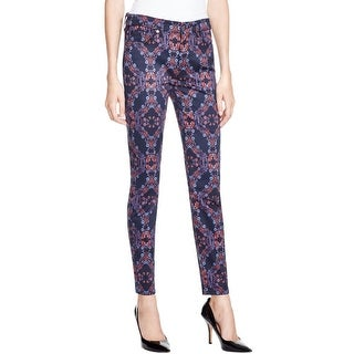 7 For All Mankind Womens Skinny Jeans Floral Print Jegging