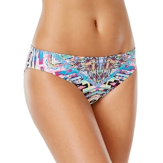 Kenneth Cole Reaction Womens Printed Bikini Bottom Multi-Color Small S