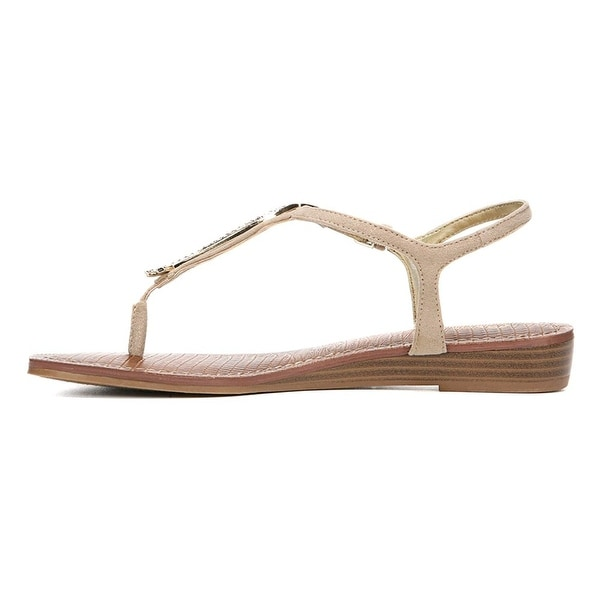 Carlos by Carlos Santana Womens Tindra Fabric Open Toe Casual T-Strap Sandals