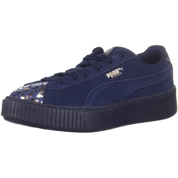 6361043345 Shop Kids Puma Girls Platform Athluxe PS Suede Low Top Lace Up ...