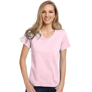 Hanes Relaxed Fit Women's ComfortSoft V-neck T-Shirt