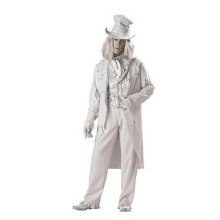 Deluxe Ghostly Gent Adult Mens Halloween Costume - Medium