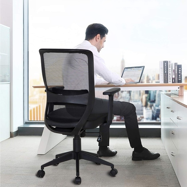 Vecelo Home Office Chairs Ergonomic Adjule Swivel For Task Desk Work