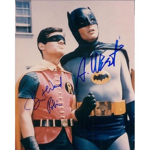 Shop Signed Batman Adam West Burt Ward 8x10 Photo By Adam