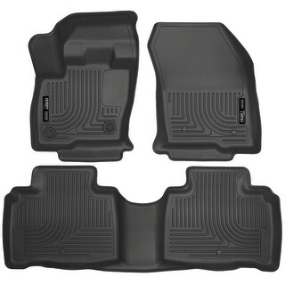 Husky Weatherbeater 2016 Lincoln MKX Black Front & Rear Floor Mats/Liners