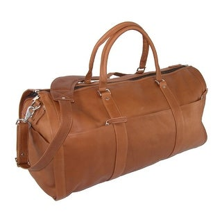 Leather Impressions Leather Convertible Duffle Bag to Garment Bag