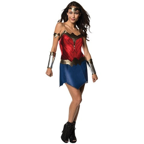 ee6b2f48e Shop Justice League Movie Wonder Woman s Costume Adult - Red - Free  Shipping On Orders Over  45 - Overstock - 18422590