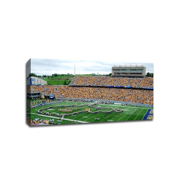 West Virginia Mountaineers - CollegeFootball - 40x22 Gallery Wrapped Canvas